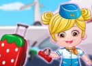 لعبة تلبيس بيبي هازل ملابس مضيفة الطيران
