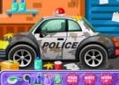 لعبة تنظيف سيارة البوليس وتزيينها