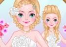لعبة حفل الزفاف الجماعي وتلبيس الفستان