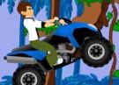 لعبة سباق دراجة بن تن فى الغابة