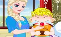 لعبة علاج إلسا بيبي من الانفلونزا