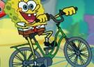 لعبة سبونجبوب وقيادة الدراجة