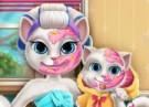 لعبة مكياج حقيقي للقطة كيتي وبنتها